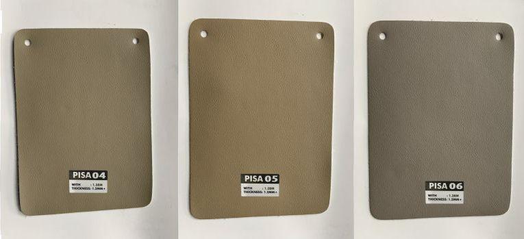 bảng màu da bọc sofa microfiber pisa