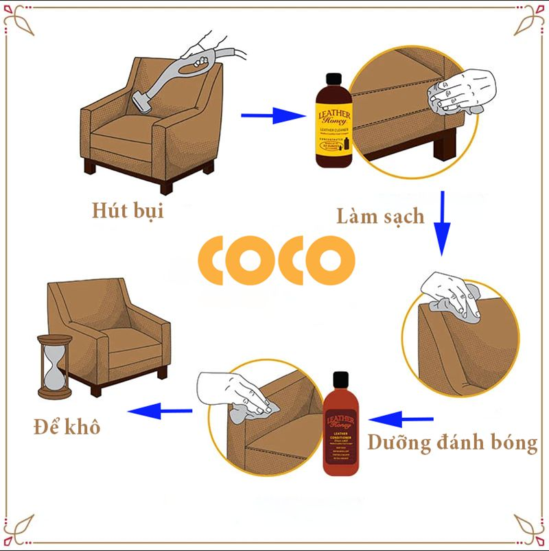các bước giặt sofa da tại nhà