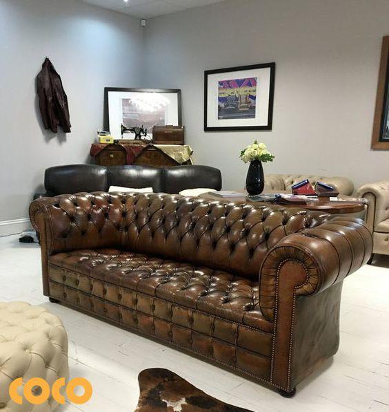 sofa da bò thật italia