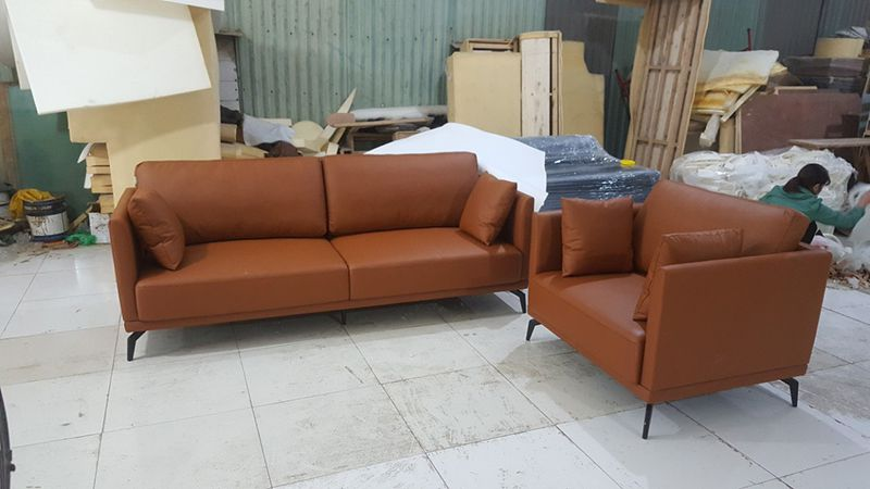 sofa da công nghiệp microfiber